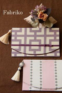 モダンテイストのふくさ : Fabrikoのカルトナージュ ~神戸のアトリエ~ Tea Caddy, Vintage Outfits, Pouch, Japan, Sewing, Crafts, Handmade, Bags, Paper Art Design