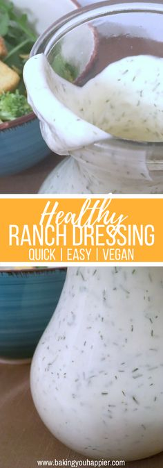 Easy Vegan Ranch Dressing Recipe