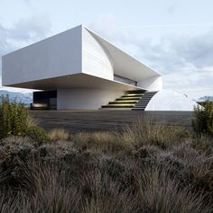 Best Ideas For Modern House Design Picture Description Project 47 by Roman Vlasov - architecture Modern Architecture Design, Futuristic Architecture, Residential Architecture, Modern House Design, Amazing Architecture, Interior Architecture, Landscape Architecture, Interior Design, Beautiful Modern Homes