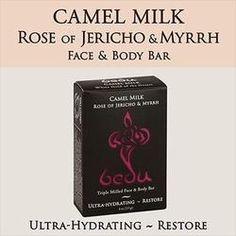 Bedu Naturals Camel Milk Bar Soap Rose Of Jericho & Myrrh (6x4 Oz)