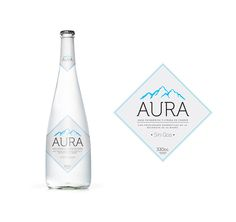 NEW MINERAL WATER! Water Packaging, Water Branding, Beverage Packaging, Bottle Packaging, Water Bottle Design, Water Bottle Labels, Vodka Bottle, Mineral Water Brands, Agua Mineral