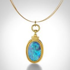 Reversible Lapis and Black Opal Necklace by Lilly Fitzgerald @QUADRUM