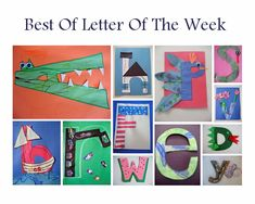 Letter of the week - PLAY and create with letters to learn. Upper and lowercase letter crafts.