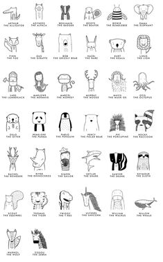 Doodle Ideas To try In Your Bullet Journal/ Decorate your Bujo with these doodles. From cute cactus doodles, to sea life, to cute little food. Dress up your Bullet Journal! Doodle Drawings, Easy Drawings, Simple Animal Drawings, Tattoo Drawings, Desenho Kids, Tier Doodles, Plakat Design, Animal Doodles, Designs To Draw