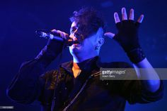 Peter Spilles of Project Pitchfork performs at C-Club on October 4, 2013 in Berlin, Germany.