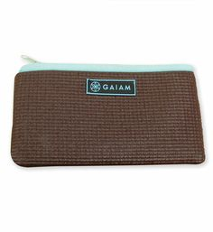 Yoga Mat Yoga Clutch in Cocoa: $9.98. Creatively crafted from yoga mat material, with a full zip top. Shop now: http://www.gaiam.com/yoga-clutch/05-60552.html?utm_source=pinterest&utm_medium=socialmedia&utm_campaign=ptgaiamcom&extcmp=sm_pt_tc