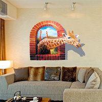 3D muursticker giraffe