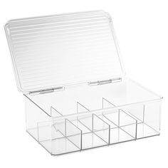 InterDesign Cabinet Binz Tea Bag Organizer Box, Clear >>> Click on the image for additional details.