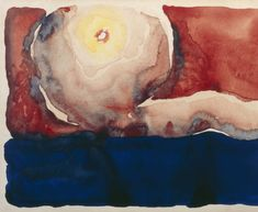 """Evening Star No. VII"" by Georgia O'Keeffe. Watercolor on paper, 1917. Georgia O'Keeffe Museum, gift of the Burnett Foundation."