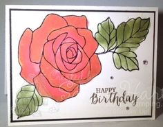 Rose Wonder, daubers, Wink of Stella, birthday card, thank you card, thinking of you card, get well card, sandi hartka