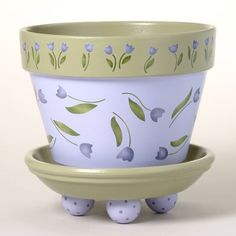 Idea Of Making Plant Pots At Home // Flower Pots From Cement Marbles // Home Decoration Ideas – Top Soop Flower Pot Art, Flower Pot Design, Clay Flower Pots, Flower Pot Crafts, Clay Pot Crafts, Cactus Flower, Painted Clay Pots, Painted Flower Pots, Tulips Flowers