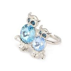 Korean Persoanlity Fashion Lover OWL Charm Design Opening Rings (Blue) General. Fashionable with passion REPIN if you like it.😊 Only 112.5 IDR