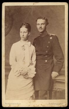 Princess Charlotte of Prussia and Prince Bernhard of Saxe-Meinengen.
