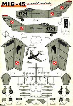 Контурная бумажная модель МиГ-15