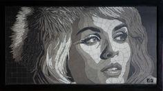 tableaux noir&blanc Art Visage, Mosaic Portrait, Face Art, Mosaic Art, Shades Of Grey, Portraits, Over The Years, Faces, Painting