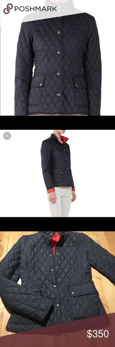 BELSTAFF Navy Sheffield Quilted Jacket  Euro sz 36 BELSTAFF Navy Quilted Jacket with Bright Red Lining , rare & sold out-  great seasonal transition piece / fab with jeans for a preppy / tailored look - size euro 36- fits xs-sm , great condition . Belstaff Jackets & Coats