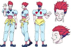 Hisoka (ヒソカ, Hisoka) is a character from the series Hunter × Hunter by Yoshihiro Togashi. He is one of the main antagonists, although he has helped the four protagonists on a few occasions. 2011| 1999| Manga.