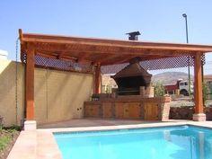 Las 26 mejores im genes de patio piscina y quincho en for Casa moderna quincho