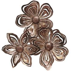 Flower Collage Metal Wall Decor