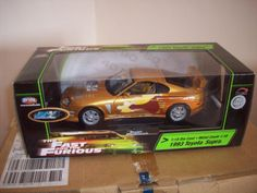 1:18 Fast and Furious 2 Fast 2 Furious 1993 Toyota Supra Gold | eBay