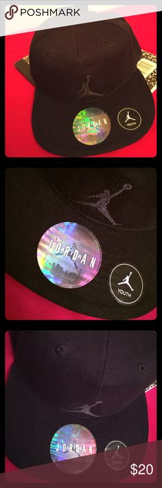 🆕 🏀Jordan Youth SnapBack Cap🏀 🏀Authentic Jordan Youth Cap. 8-20. Black with Embroidered Black Jumpman on the Front. Black SnapBack. Vented. 100% Cotton. Brand New. Excellent Condition. No Trades. See Other Great Jordan items in My Closet.🏀 Jordan Accessories Hats