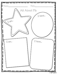 Freebielicious: All About Me Sentence Writing