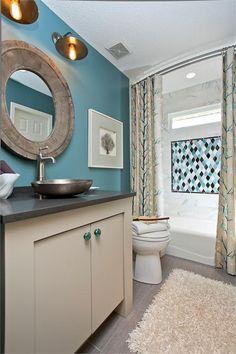 Cozy Transitional Bathroom - Aspen Hush by California Paints
