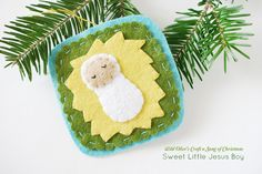 Wild Olive's Craft a Song of Christmas: Sweet Little Jesus Boy Felt Ornament