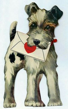 Image result for vintage wire fox terrier romantic
