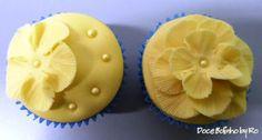 Cupcake Flor Amarela