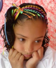 Will be trying this on my princess Lil Girl Hairstyles, Gym Hairstyles, Pretty Hairstyles, Hairdos, African American Hairstyles, Toddler Hair, Crazy Hair, Hair Art, Your Hair