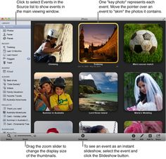 Image of Events view-organizing iPhoto.