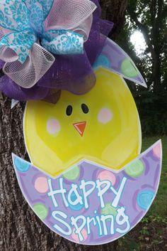 Easter Door Hanger Spring Door Hanger Easter by BluePickleDesigns, $45.00