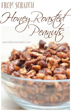 Make your own Honey Roasted Peanuts from scratch for all your holiday parties this year!