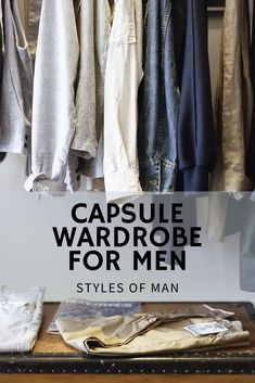 Check out our guide on how to build a men's minimalist capsule wardrobe. This capsule can transition to both business and casual, the perfect pieces to get your capsule started. If you travel for work, this guide is for you! Capsule Wardrobe Casual, Capsule Wardrobe How To Build A, Mens Wardrobe Essentials, Men's Wardrobe, Wardrobe Ideas, Wardrobe Organisation, Organisation Ideas, Wardrobe Storage, Wardrobe Design