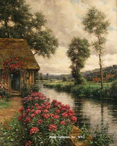 Louis Aston Knight Pink Phlox, Normandie (1873 - 1948) Oil on canvas 32 x 26 inches