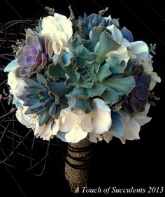 Succulent Wedding Bouquet, Rustic bouquet, Spring wedding bouquet, Winter Bouquet, Alternative Bouquet,Fall Bouquet,Romantic Bouquet. $150.00, via Etsy.