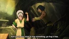 And again with this gif. This time with the text. Toph and Korra. 4.03