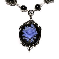 Steampunk Goth Jewelry  Necklace  Black and by CatherinetteRings, $60.00