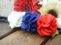 Diademas - Diadema flores ref: 015 - hecho a mano por KENZA-COMPLEMENTOS en DaWanda