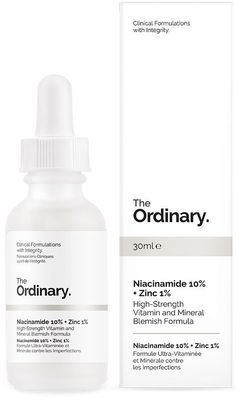 Diminish the appearance of breakouts with The Ordinary Niacinamide + Zinc a balancing daily treatment for oily and blemish-prone skin types. Made for those with a congested complexion that's prone to breakouts, The Ordinary Niacinamid