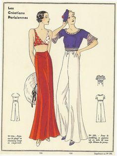 Super cute! Ladies 1930's pattern.