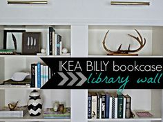 IKEA BILLY Bookcase Library Wall >>> Getting That Built-in Feeling