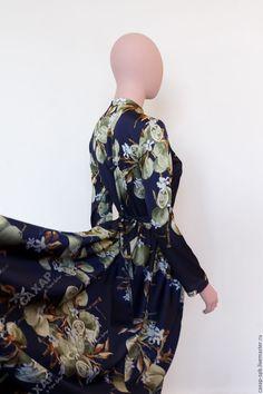 """Купить По мотивам D&G """"Лимонный пейзаж"""" платье рубашка в пол с рукавом. - платье для вечеринки"""