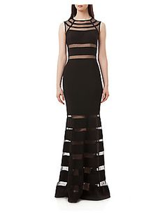cadc982ca9c JS COLLECTIONS ILLUSION COLUMN GOWN.  jscollections  cloth