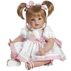Venha Participar da Festa com a linda Adora Doll Happy Birthday! É aniversário dessa linda bebê e para comerorar ela usa um vestido branco precioso com todos os detalhes cor de rosa com aplique de balões, cupcake e uma vela para decorar a festa, As suas sandálias finalizam o encanto. É um presente adorável que envolve a mágica do aniversário. Agora faça o seu pedido e assobre as velinhas! As meninas vão amar!!! Idade Recomendada: Para crianças maiores de 06 anos de idade. Características…