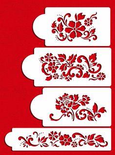 Amazon.com: Floral Explosion Set Cake Stencils by Designer Stencils: Home & Kitchen