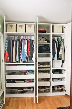 Organizing Closet Space ikea pax wardrobe organizing | closet space i love | pinterest