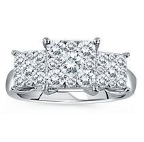 1.00 ct. t.w. Unity Diamond Engagement Ring in 14k White Gold (I, I1)  SIZE 5.5