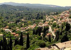 The mountain village of Ano Korakiana in Corfu.